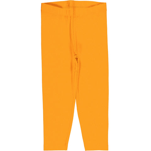 Maxomorra Leggings Cropped Classic Solid Tangerine