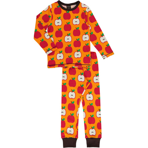 Maxomorra Pyjama Set LS Classic Apple