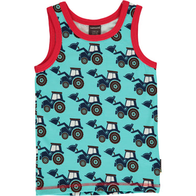 Maxomorra Tanktop Classic Tractor,little-tiger-togs.
