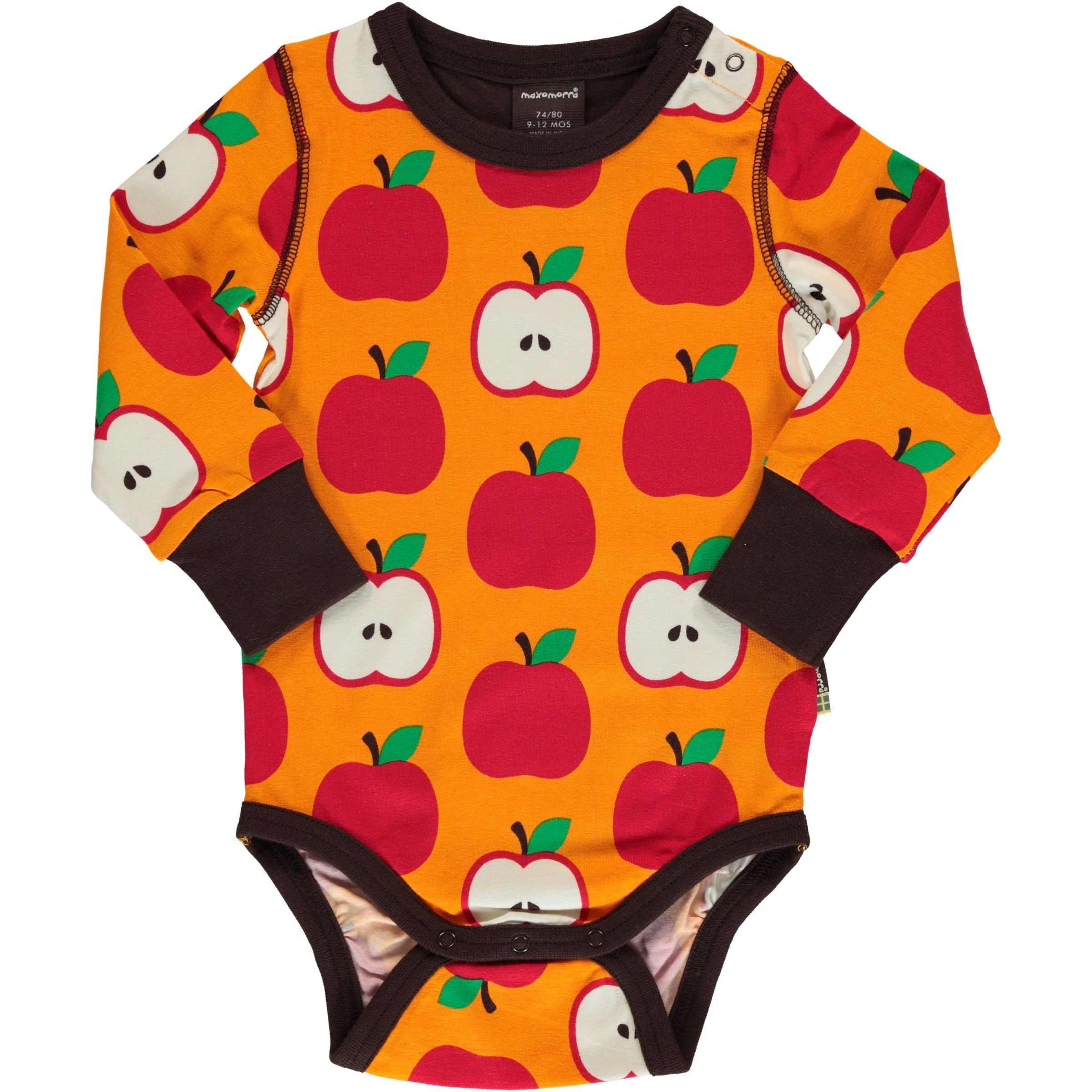 Maxomorra Body LS Classic Apple,little-tiger-togs.
