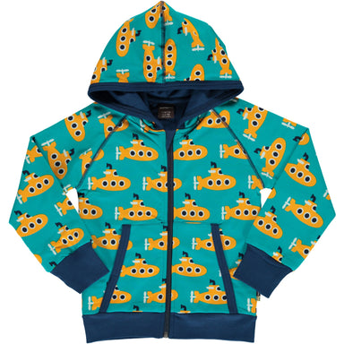 Maxomorra Cardigan Hood Classic Submarine,little-tiger-togs.
