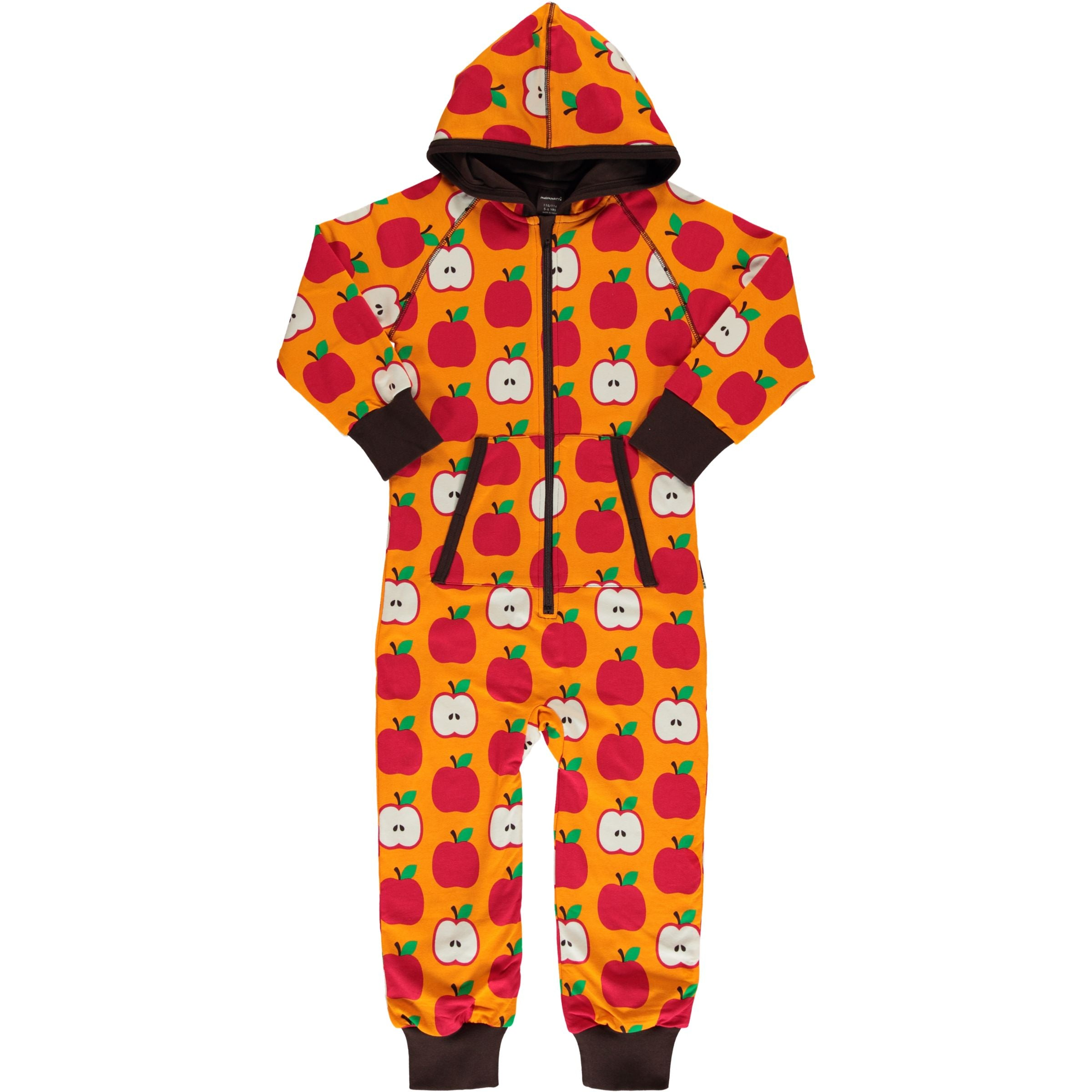 Maxomorra Hooded One Piece Classic Apple,little-tiger-togs.