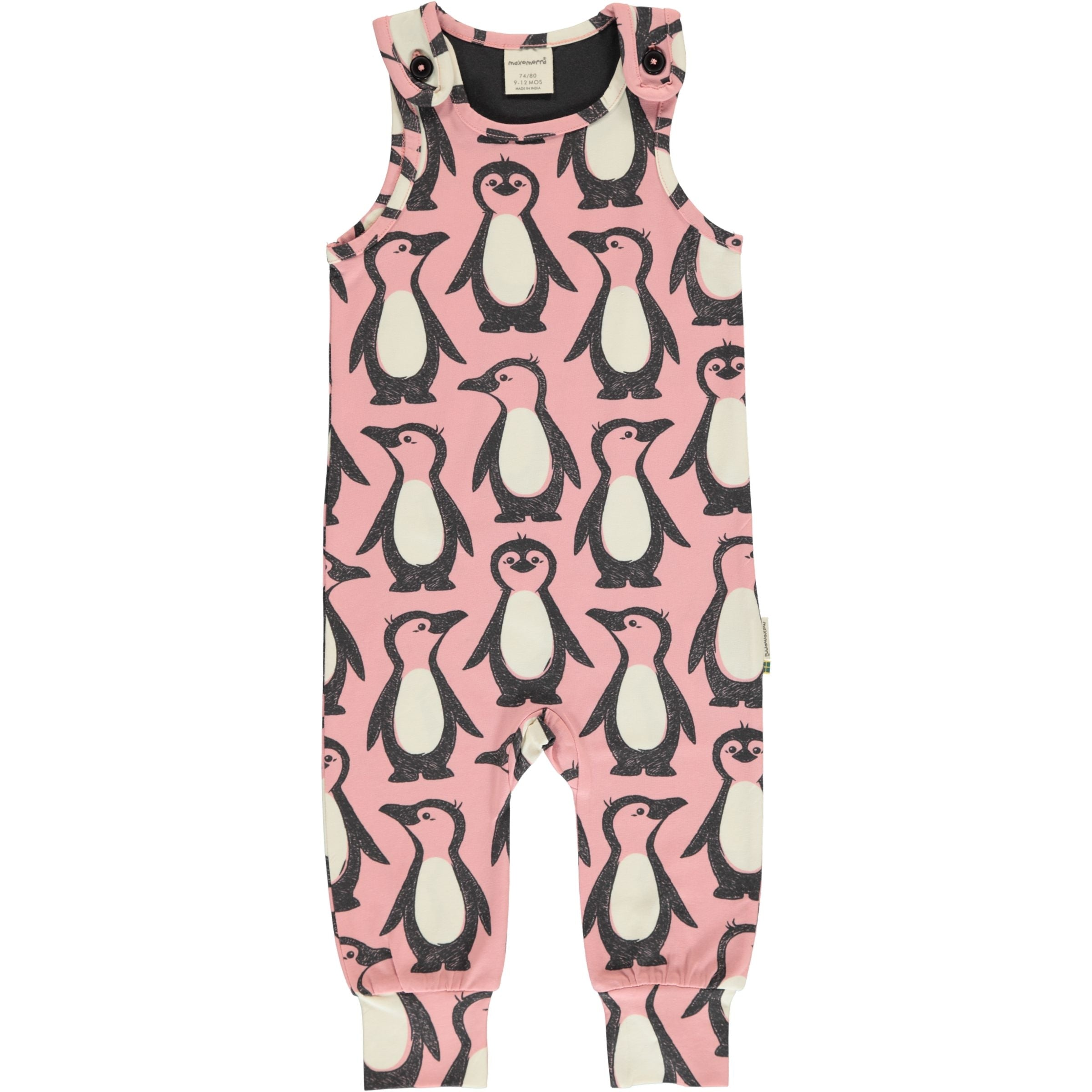 Maxomorra Playsuit Penguin Family,little-tiger-togs.