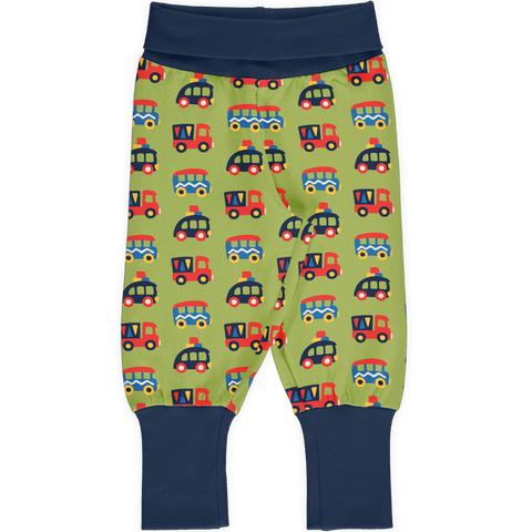Maxomorra Pants Rib Colourful Cars