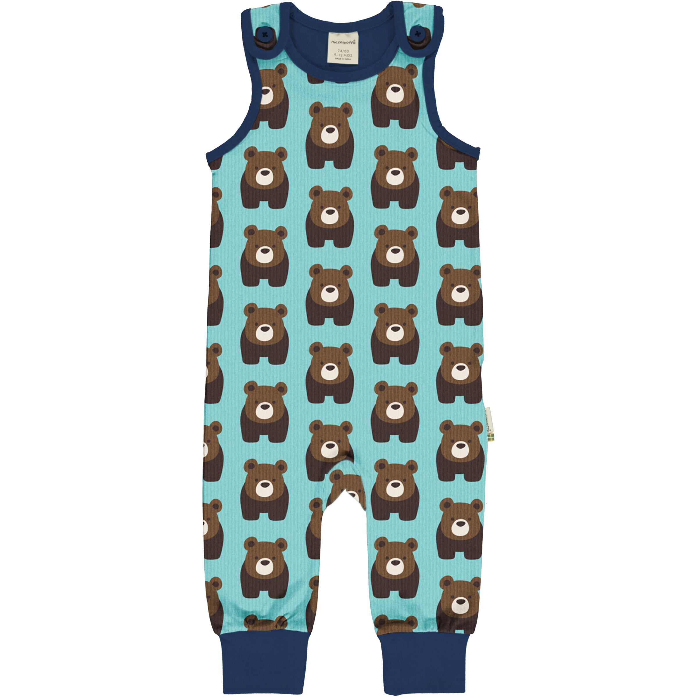 Maxomorra Playsuit Bear,little-tiger-togs.