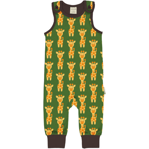 Maxomorra Playsuit Giraffe,little-tiger-togs.