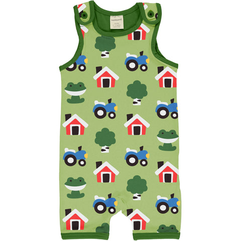 Maxomorra Playsuit Short Forest Farm