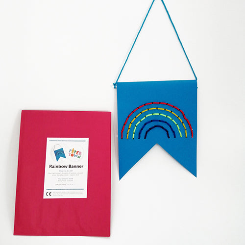 Paper Town Rainbow Banner - little-tiger-togs