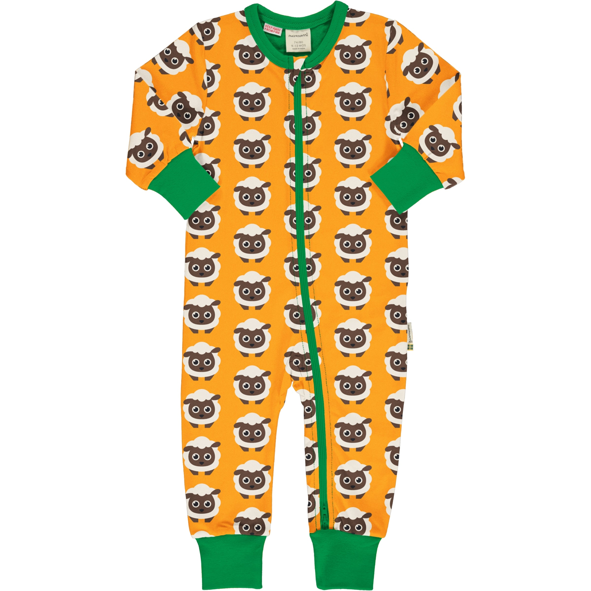 Maxomorra Rompersuit LS Classic Sheep,little-tiger-togs.