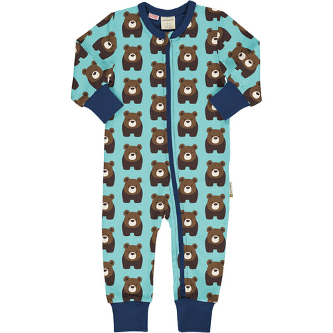 Maxomorra Rompersuit LS Bear,little-tiger-togs.