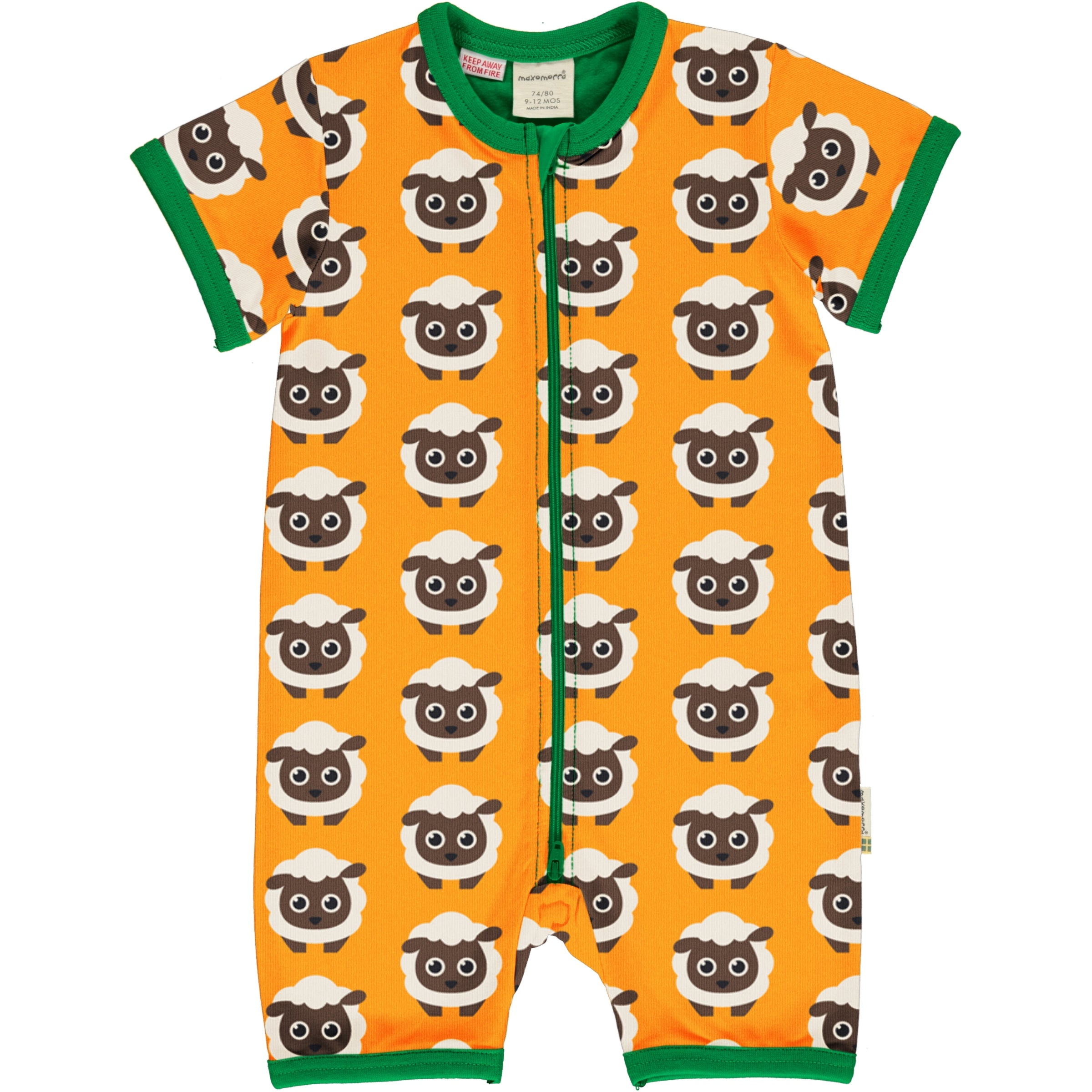 Maxomorra Rompersuit SS Classic Sheep,little-tiger-togs.