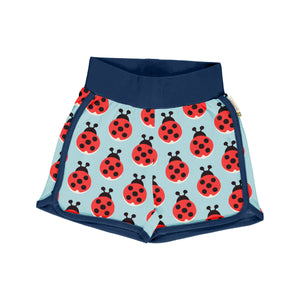 Maxomorra Runner Shorts Lazy Ladybug