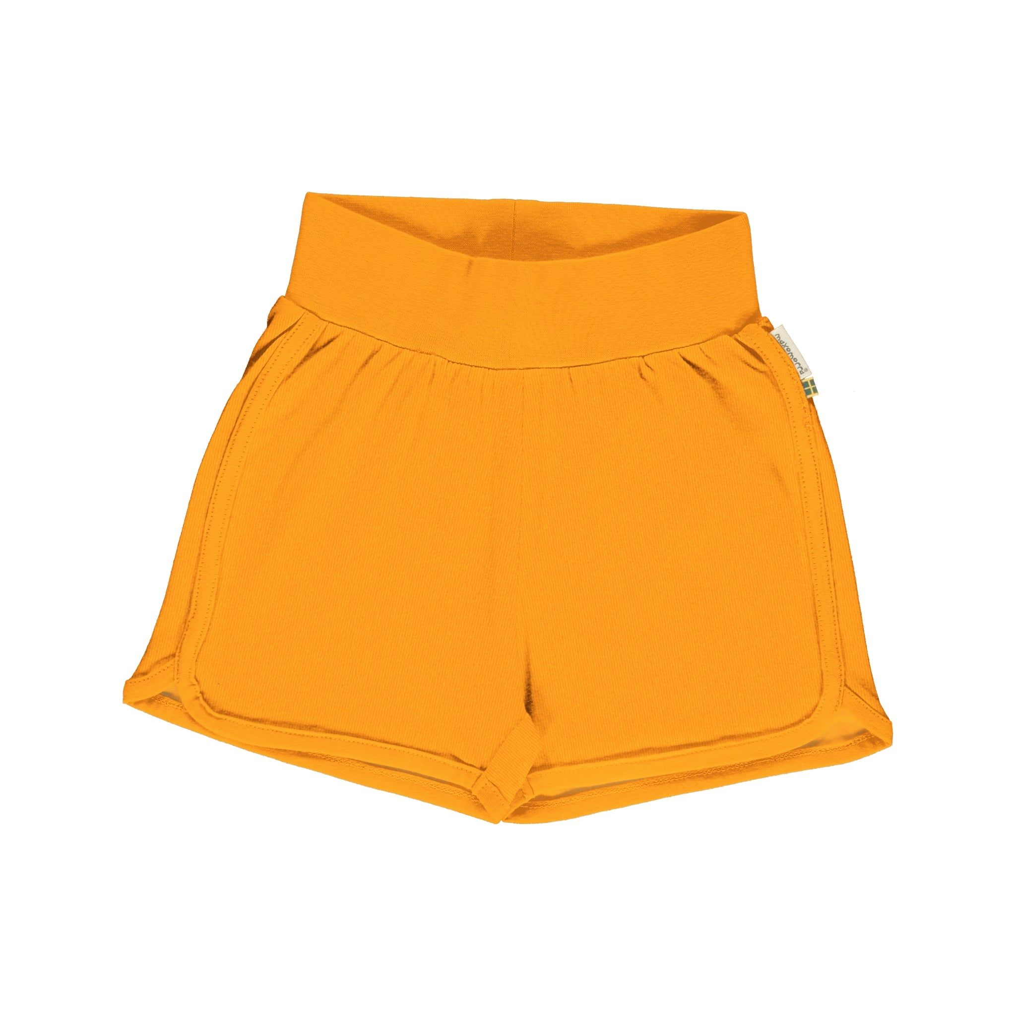 Maxomorra Runner Shorts Classic Solid Tangerine,little-tiger-togs.