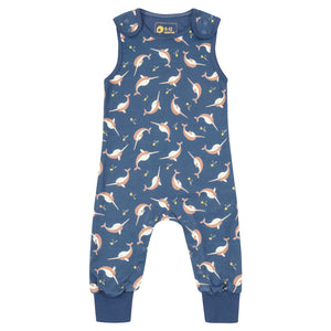 Piccalilly Dungarees Narwhals