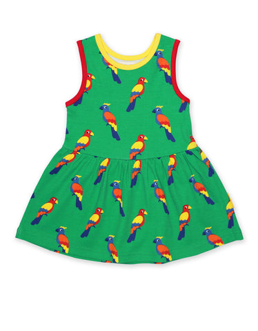 Toby Tiger Twirl Dress Parrot (6-12 Months) - little-tiger-togs