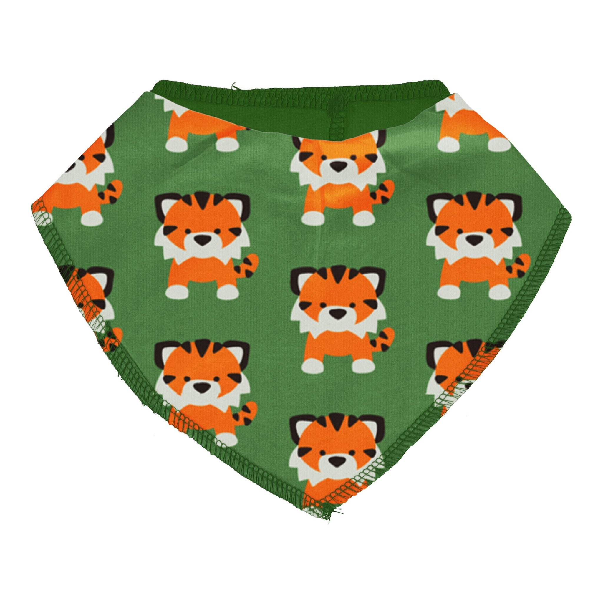Maxomorra Dribble Bib Tangerine Tiger,little-tiger-togs.