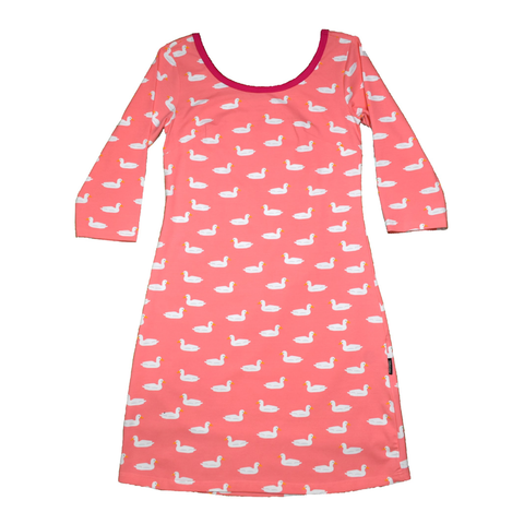 Moromini T-Shirt Dress Duck Pond Pink (Adult),little-tiger-togs.