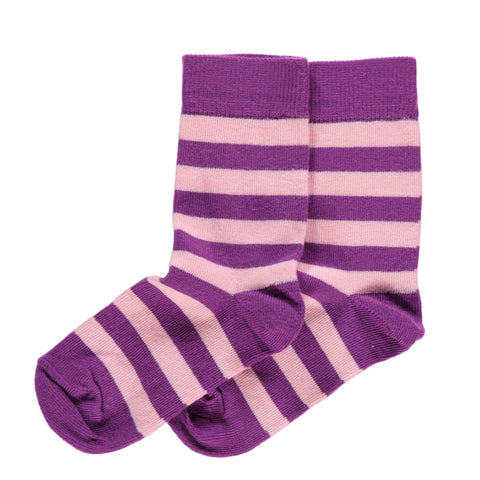 Maxomorra Socks Purple/Pink - little-tiger-togs