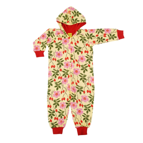 DUNS Sweden Lined Suit with Hood Rosehip,little-tiger-togs.