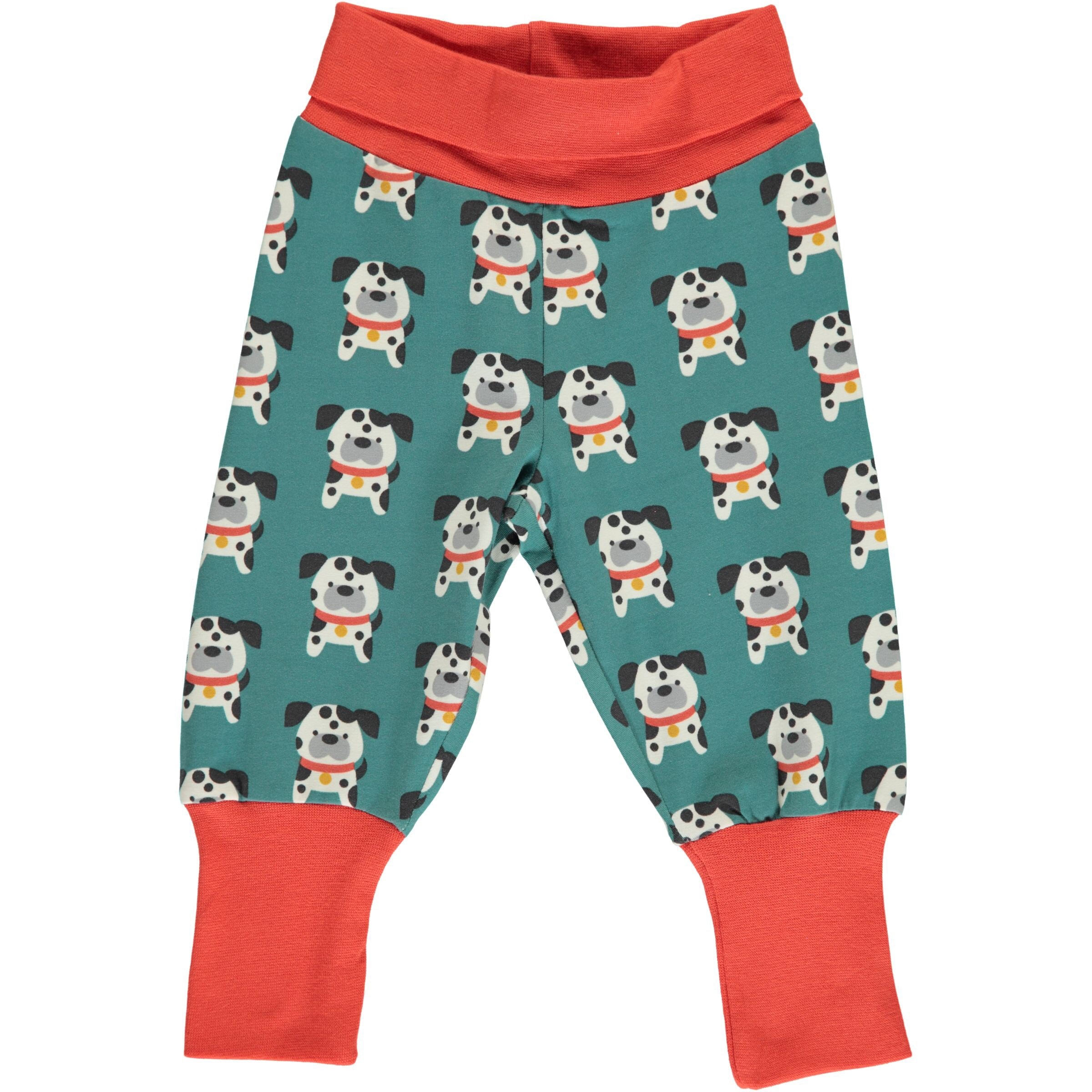 Maxomorra Pants Rib Dalmatian Buddy - little-tiger-togs