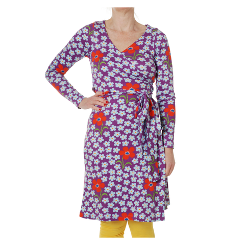 DUNS Sweden Dress Wrap LS Flower Amethyst (Adult)