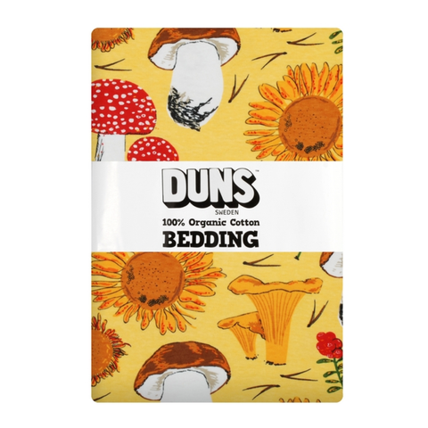 DUNS Sweden Bedding Sunflowers & Mushrooms Sunshine Yellow