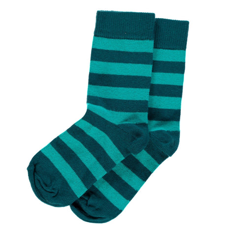 Maxomorra Socks Petrol/Turquoise - little-tiger-togs