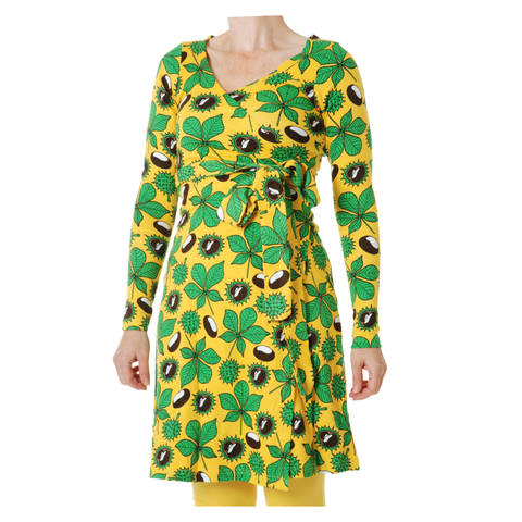 DUNS Sweden Dress Wrap LS Chestnut Daffodil Yellow (Adult)