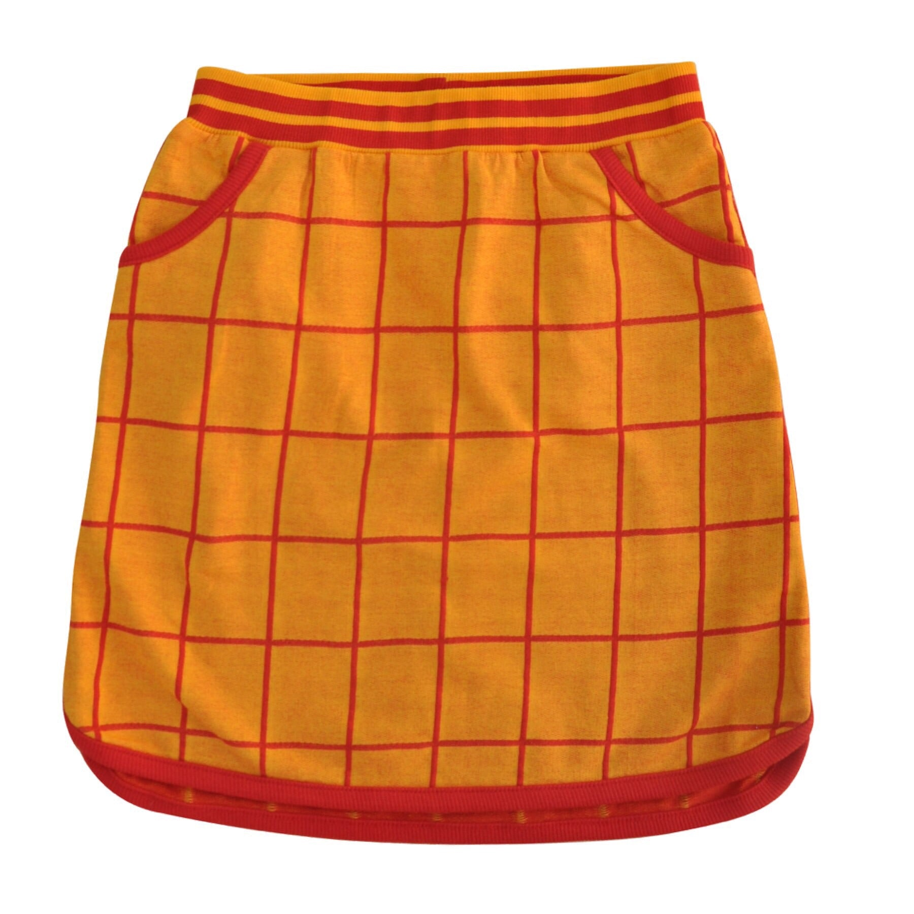 Moromini Retro Running Skirt Grid Jacquard - little-tiger-togs