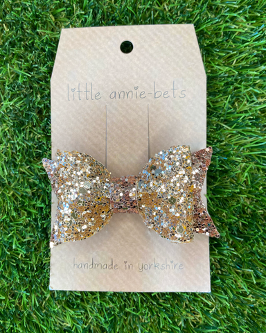 Little Annie Bets Glitter Hair Bow Rose Queen,little-tiger-togs.