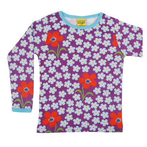 DUNS Sweden Top LS Flower Amethyst,little-tiger-togs.