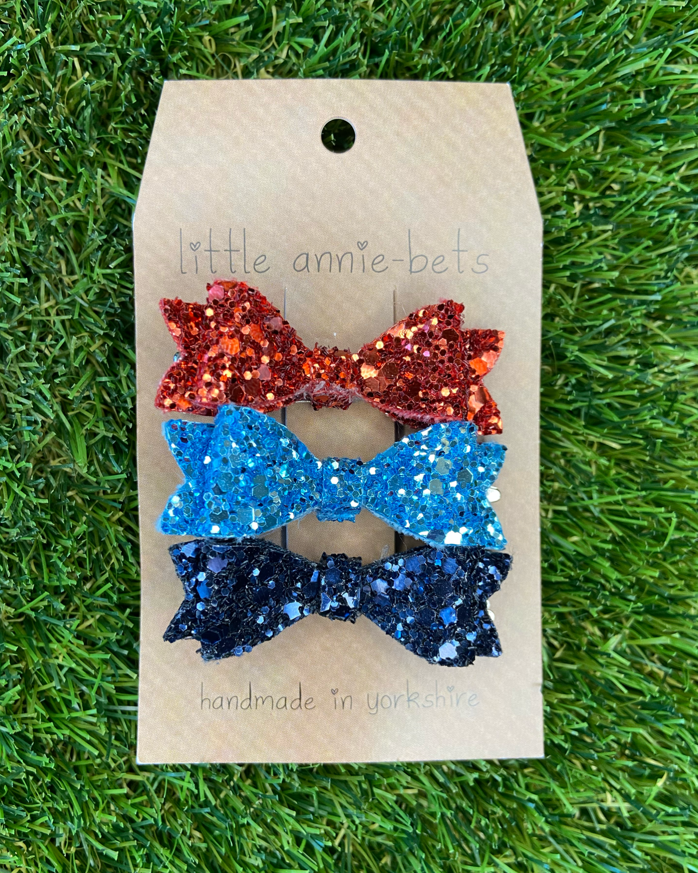 Little Annie Bets Diddy Glitter Bows (Pack of 3) All That Jazz,little-tiger-togs.
