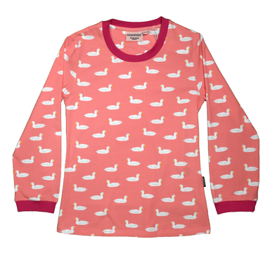 Moromini T-Shirt LS Duck Pond Pink (Adult - Ladies),little-tiger-togs.