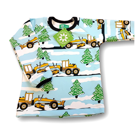 Naperonuttu Shirt LS Snowplough (French Terry),little-tiger-togs.