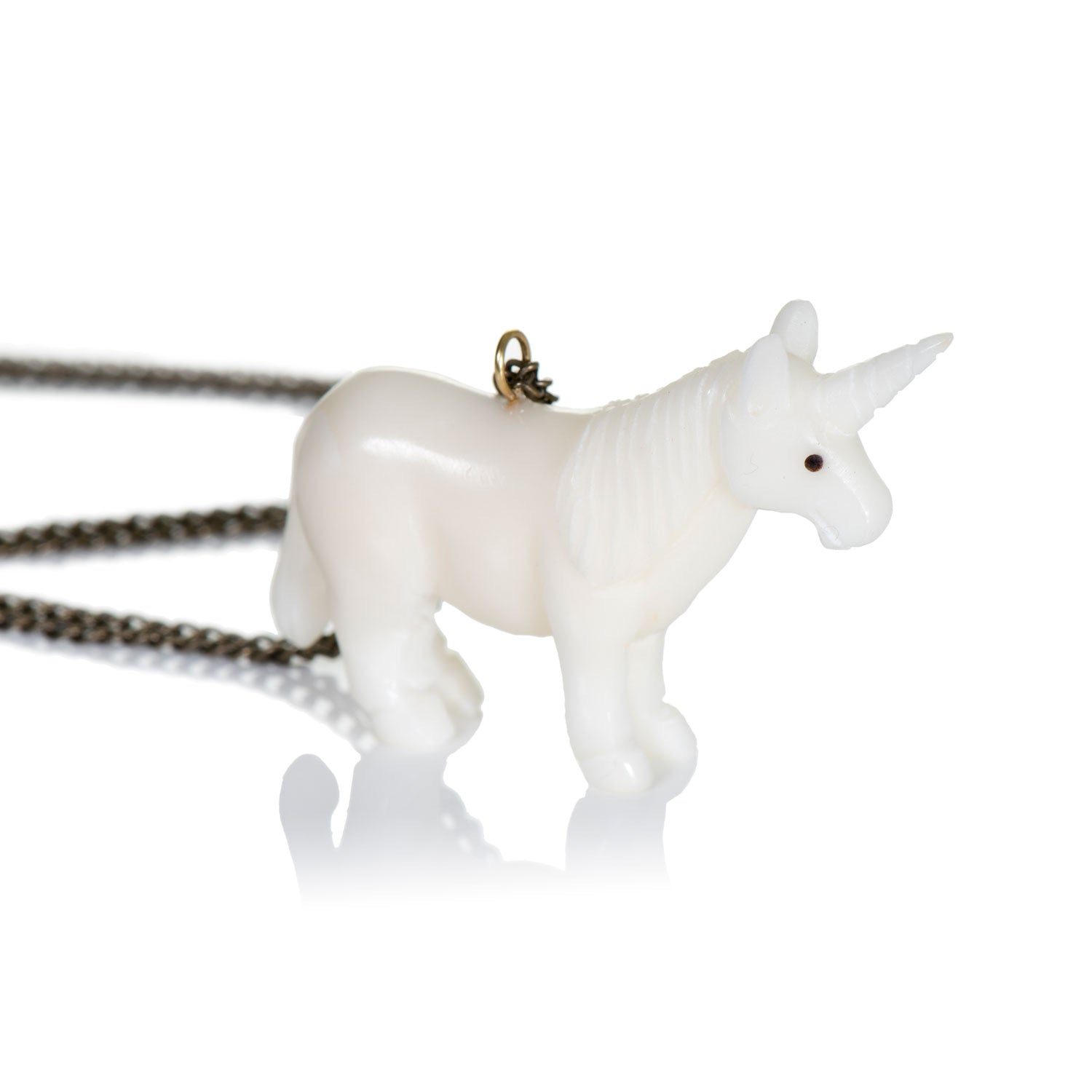 Just Trade Tagua Unicorn Pendant,little-tiger-togs.