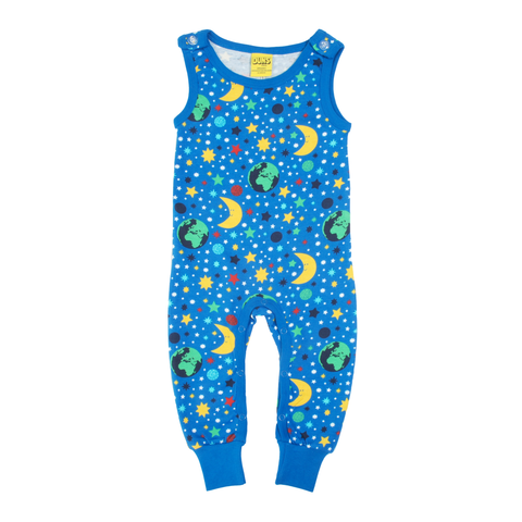 DUNS Sweden Dungarees Mother Earth Blue,little-tiger-togs.