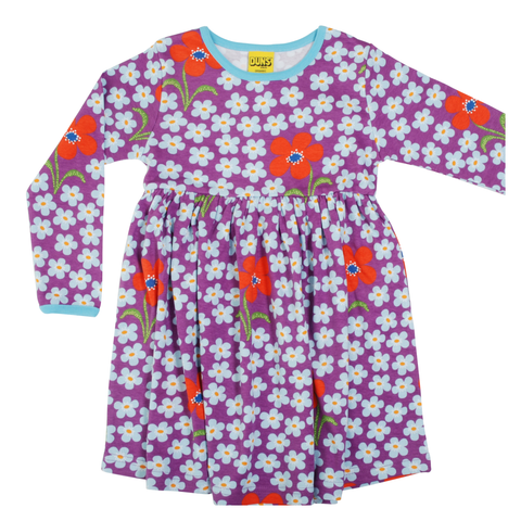 DUNS Sweden Dress Twirly LS Flower Amethyst,little-tiger-togs.