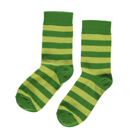 Maxomorra Socks Bright Green/Dark Green - little-tiger-togs