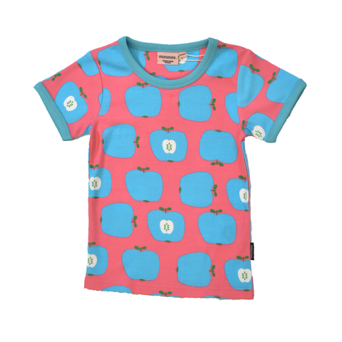 Moromini T-Shirt SS Blue Apple,little-tiger-togs.