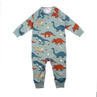 Walkiddy Rompersuit LS Funny Dinosaur,little-tiger-togs.