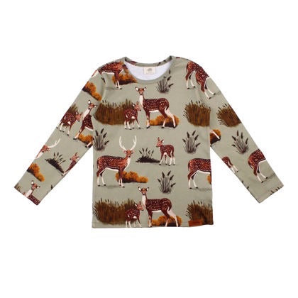 Walkiddy Shirt LS Deer Family