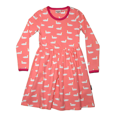 Moromini Twirly Dress LS Duck Pond Pink,little-tiger-togs.