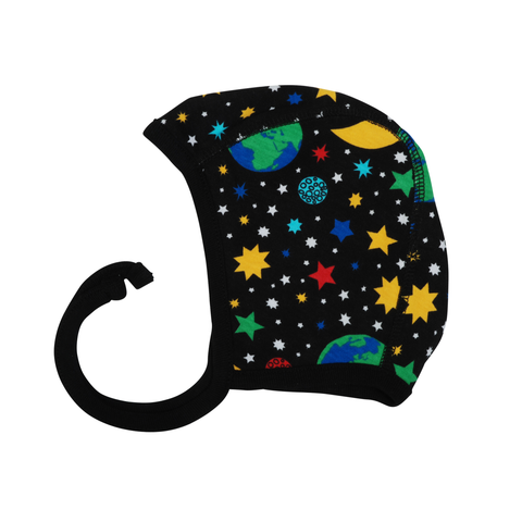 DUNS Sweden Baby Bonnet Mother Earth Black,little-tiger-togs.