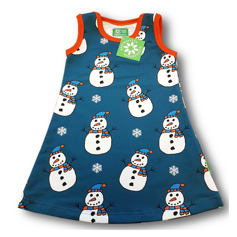 Naperonuttu Dress Sleeveless Snowman (French Terry),little-tiger-togs.