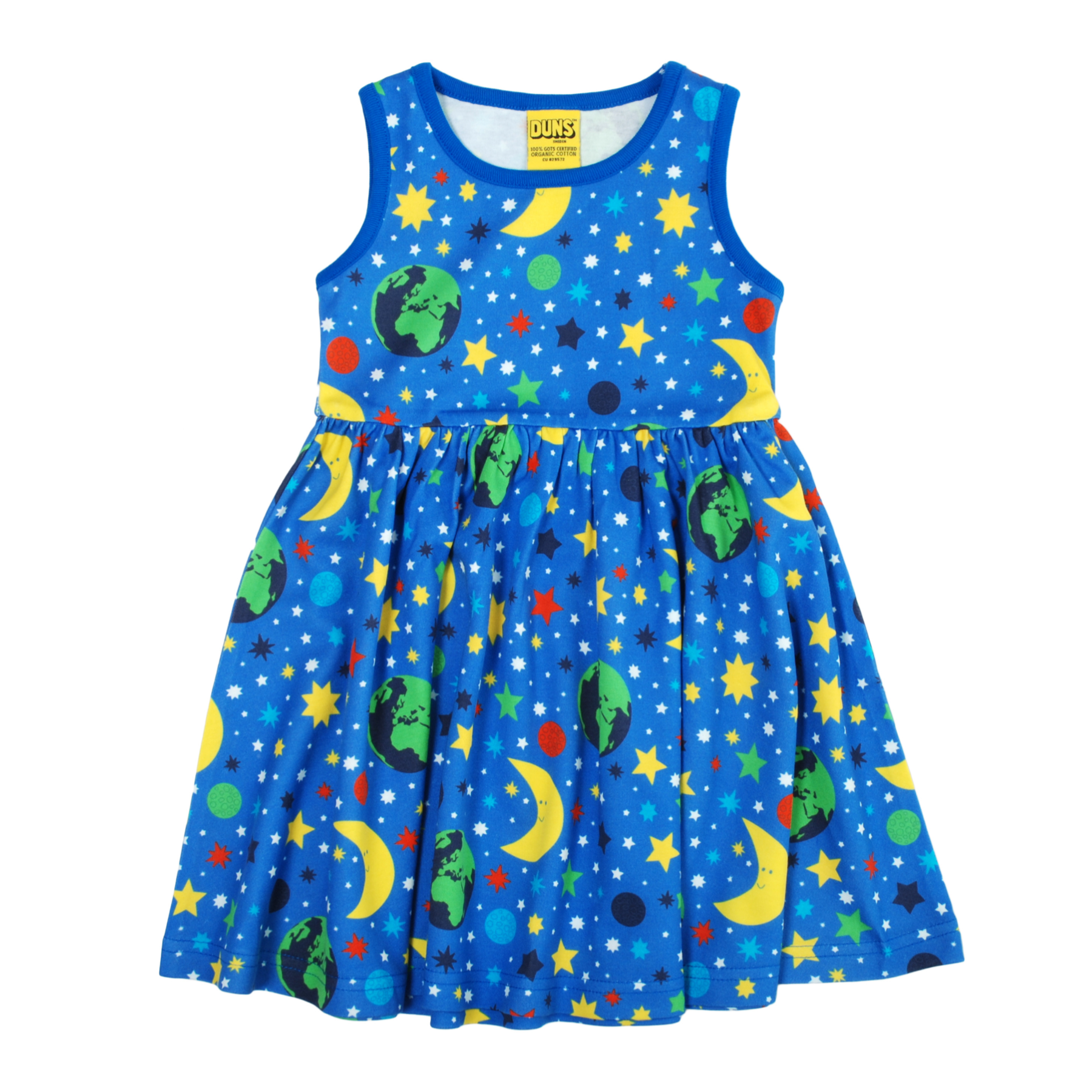 DUNS Sweden Dress Twirly Sleeveless Mother Earth Blue