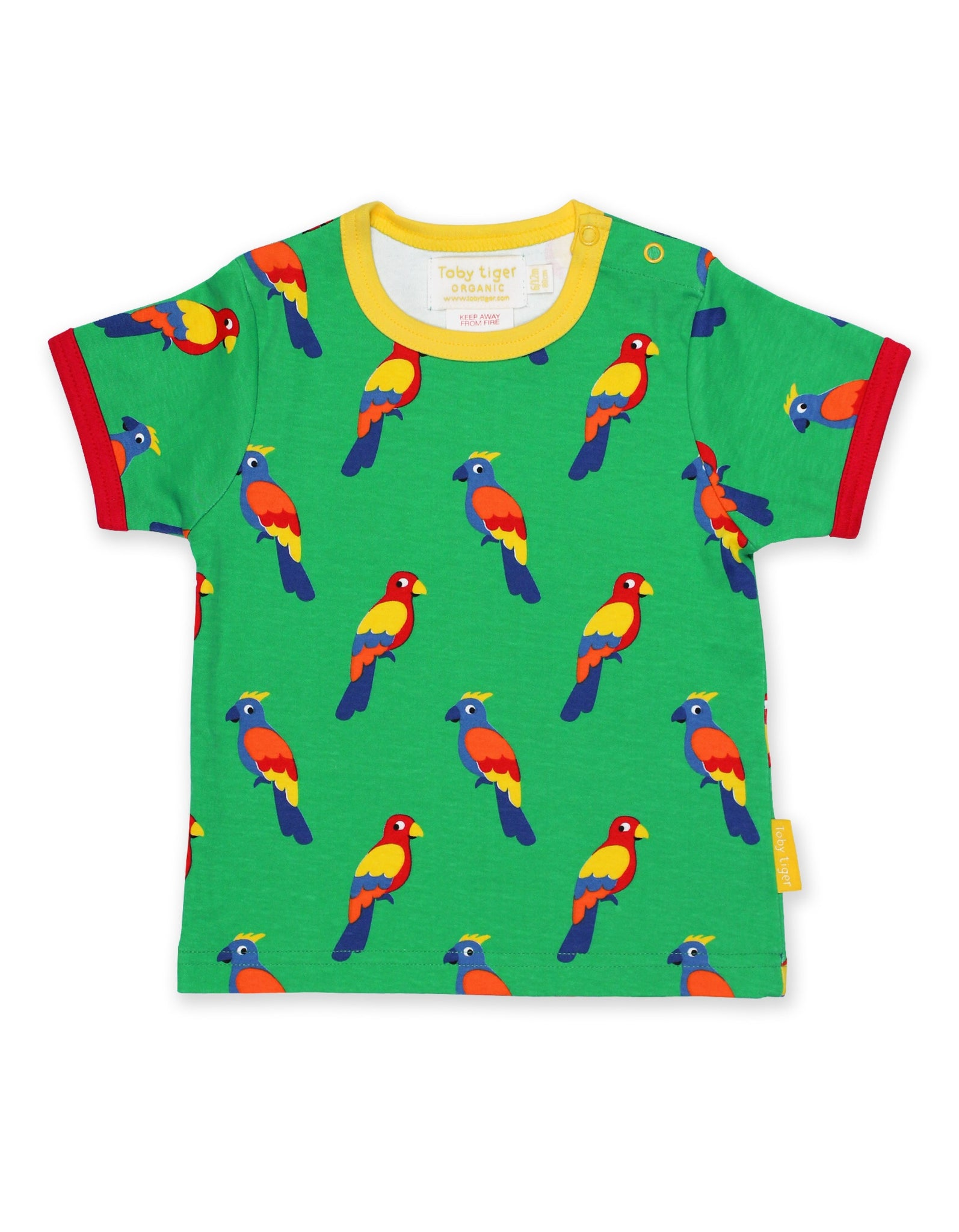 Toby Tiger T-Shirt Parrot - little-tiger-togs