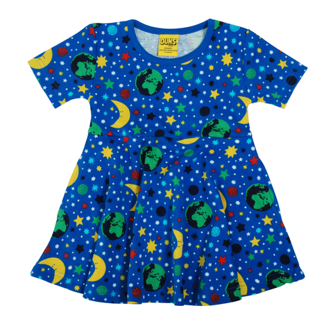 DUNS Sweden Dress Skater SS Mother Earth Blue
