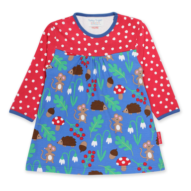 Toby Tiger Dress LS Woodland,little-tiger-togs.