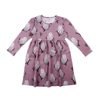 Walkiddy Dress Twirly Snowy Owls,little-tiger-togs.