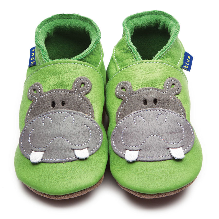 Inch Blue Shoe Hippo Green,little-tiger-togs.